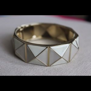 Pyramid Bangle Bracelet with Hinge Closure